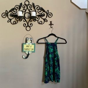 Everly Blue and Green Tank Top